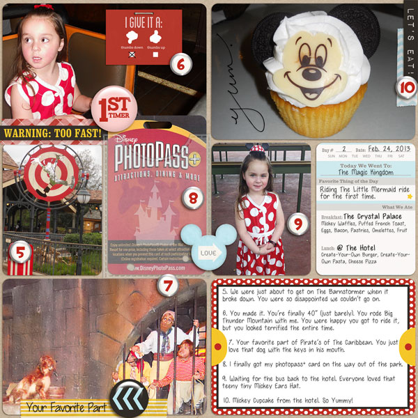 Disney Project Life page created by Trixiefc1985 featuring Project Mouse by Sahlin Studio & Britt-ish Designs