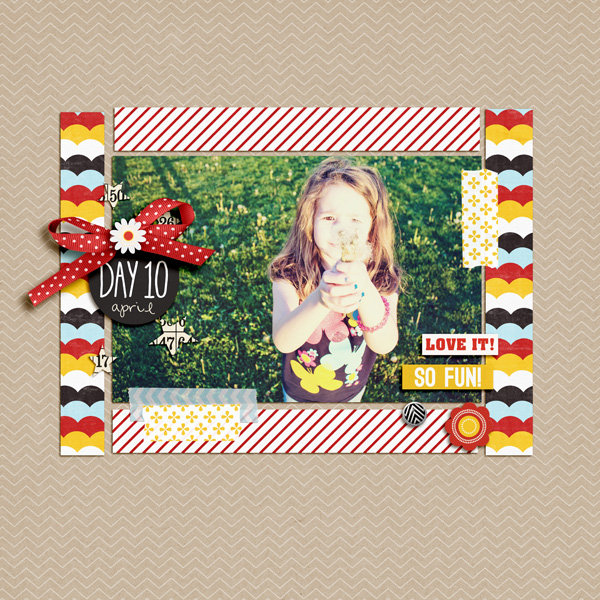 Digital Scrapbook page created by aballen featuring Project Mouse by Sahlin Studio & Britt-ish Designs