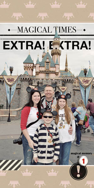 Disney Project Life page created by kristasahlin featuring Project Mouse by Sahlin Studio & Britt-ish Designs