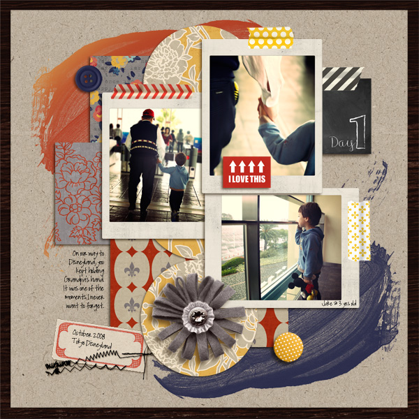 Digital Scrapbook page created by mikinenn featuring products by Sahlin Studio
