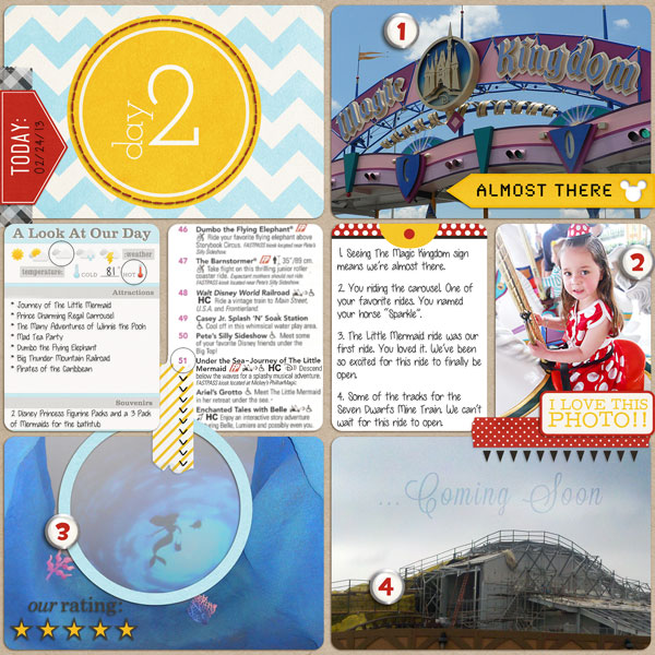 Disney Project Life page created by sarah featuring Project Mouse by Sahlin Studio & Britt-ish Designs