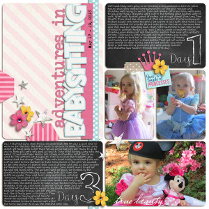 Digital Scrapbook Project Life page created by yzerbear19 featuring Project Mouse by Sahlin Studio & Britt-ish Designs