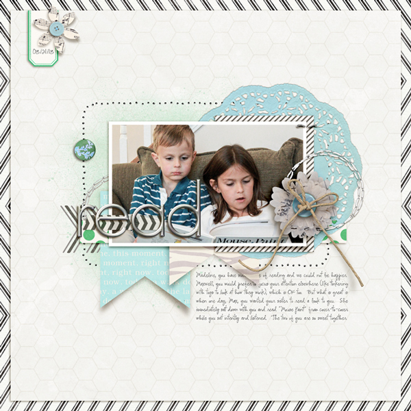 Digital Scrapbook page created by rlma featuring Down the Lane by Sahlin Studio