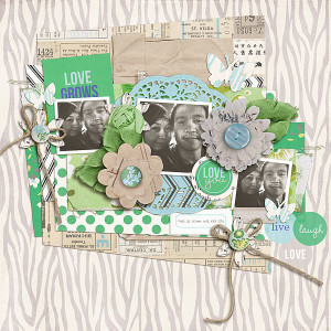 """Digital Scrapbook page created by scrappydonna featuring """"Down the Lane"""" by Sahlin Studio"""