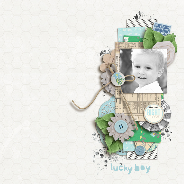 "Digital Scrapbook page created by sucali featuring ""Down the Lane"" by Sahlin Studio"