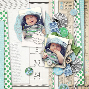 """Digital Scrapbook page created by wendy85 featuring """"Down the Lane"""" by Sahlin Studio-2"""