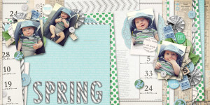 "Digital Scrapbook page created by wendy85 featuring ""Down the Lane"" by Sahlin Studio-full"