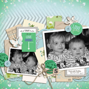 "Digital Scrapbook page created by yzerbear19 featuring ""Down the Lane"" by Sahlin Studio"