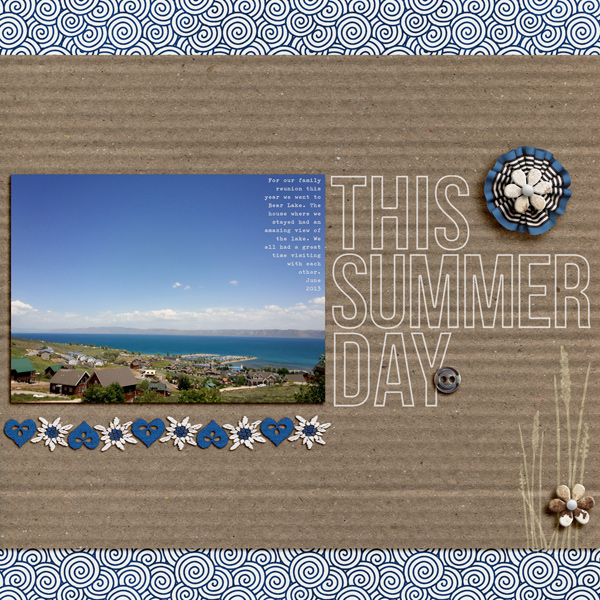 """Digital Scrapbook page created by aballen featuring """"Count the Waves"""" by Sahlin Studio"""