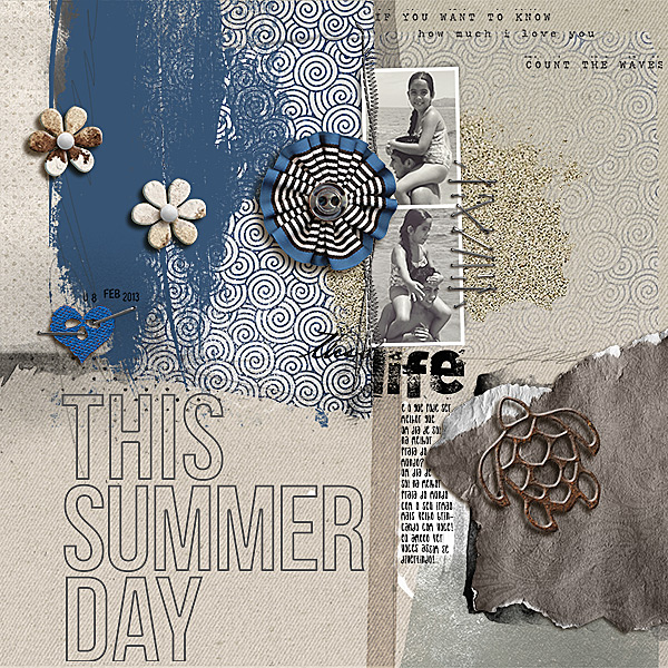 """Digital Scrapbook page created by amandaresende featuring """"Count the Waves"""" by Sahlin Studio"""