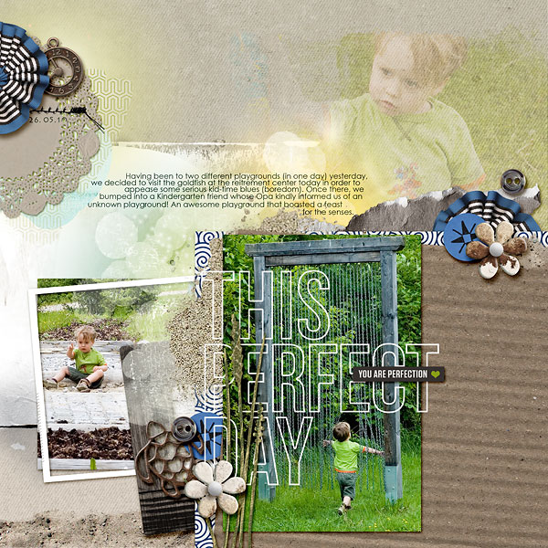 """Digital Scrapbook page created by amberr featuring """"Count the Waves"""" by Sahlin Studio"""