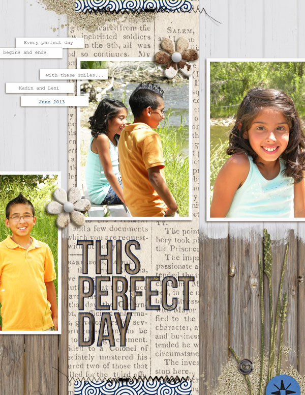 """Digital Scrapbook page created by askings featuring """"Count the Waves"""" by Sahlin Studio"""