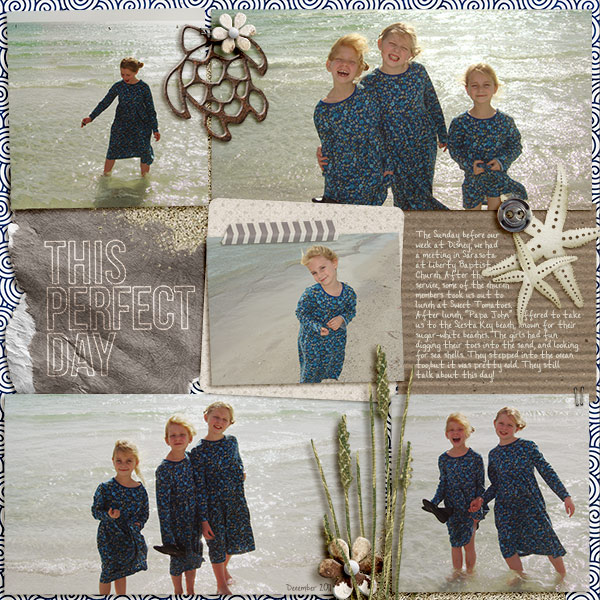 """Digital Scrapbook page created by becca1976 featuring """"Count the Waves"""" by Sahlin Studio"""