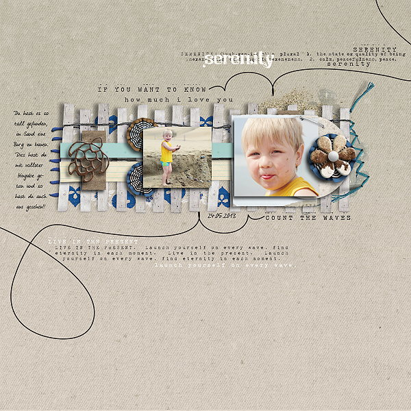 """Digital Scrapbook page created by domad featuring """"Count the Waves"""" by Sahlin Studio"""