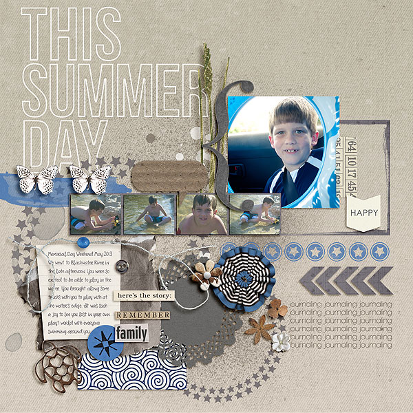 """Digital Scrapbook page created by gonewiththewind featuring """"Count the Waves"""" by Sahlin Studio"""