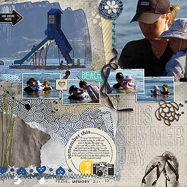 """Digital Scrapbook page created by heather prins featuring """"Count the Waves"""" by Sahlin Studio"""
