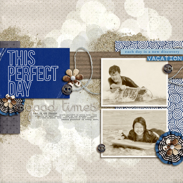 """Digital Scrapbook page created by icajovita featuring """"Count the Waves"""" by Sahlin Studio"""