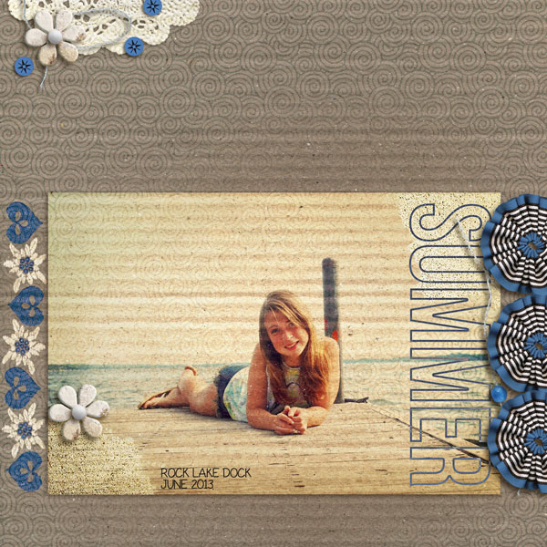 """Digital Scrapbook page created by lor featuring """"Count the Waves"""" by Sahlin Studio"""