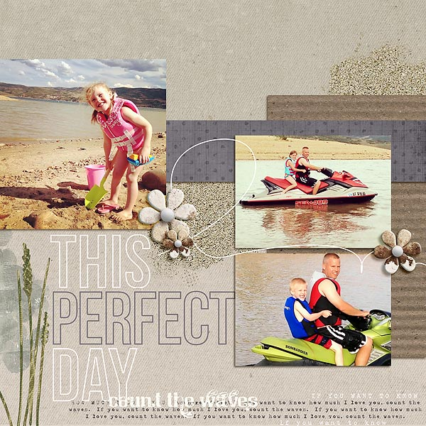 """Digital Scrapbook page created by mamatothree featuring """"Count the Waves"""" by Sahlin Studio"""