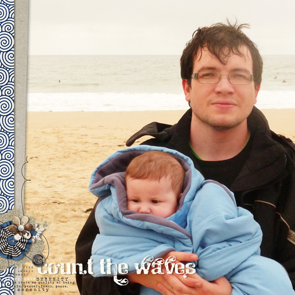 """Digital Scrapbook page created by mlleterramoka featuring """"Count the Waves"""" by Sahlin Studio"""