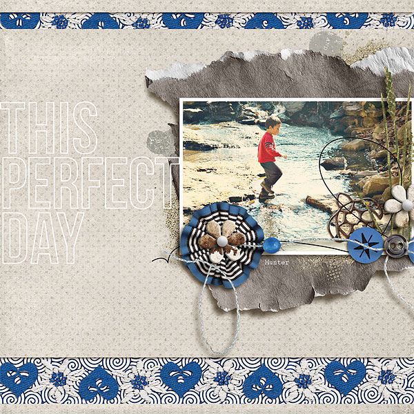 """Digital Scrapbook page created by scrappydonna featuring """"Count the Waves"""" by Sahlin Studio"""