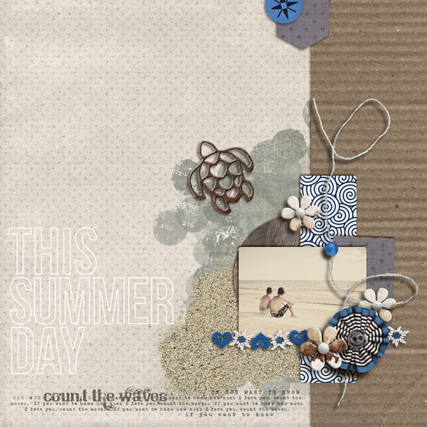 """Digital Scrapbook page created by sucali featuring """"Count the Waves"""" by Sahlin Studio"""