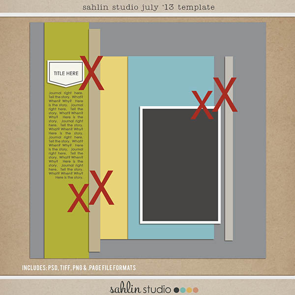 sahlin studio july 2013 free digital scrapbook template