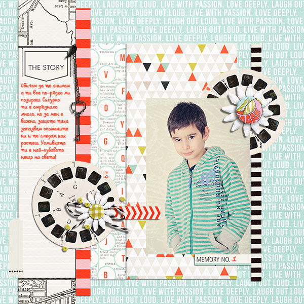 Digital Scrapbook page created by Damayanti featuring Melon Sorbet by Sahlin Studio
