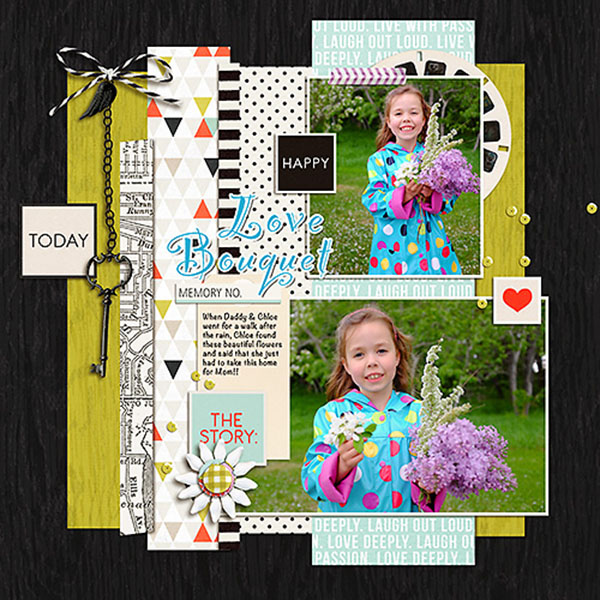 Digital Scrapbook page created by Heather Prins featuring Melon Sorbet by Sahlin Studio