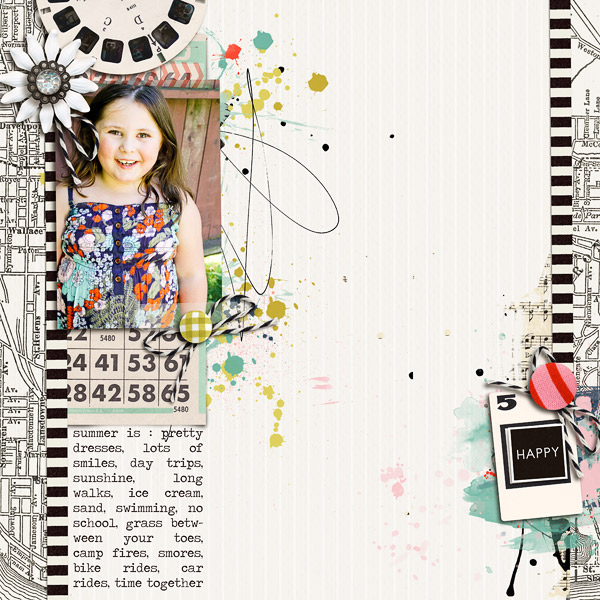 Digital Scrapbook page created by Jenn Barrette featuring Melon Sorbet by Sahlin Studio
