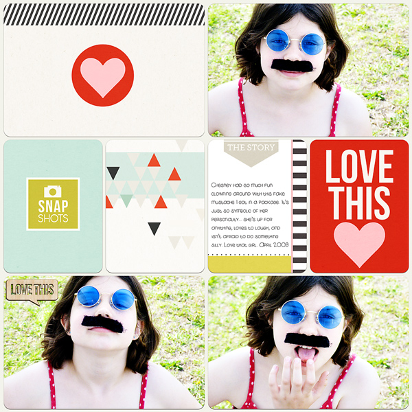Digital Project Life page created by MissKim featuring Melon Sorbet by Sahlin Studio