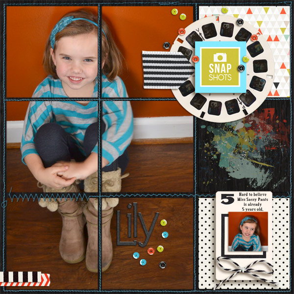 Digital Scrapbook page created by Roboliver featuring Melon Sorbet by Sahlin Studio