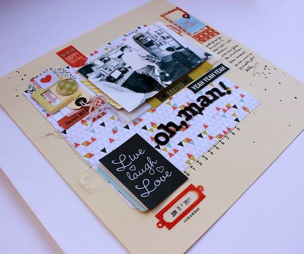 Scrapbook page created by Rossana featuring Melon Sorbet by Sahlin Studio