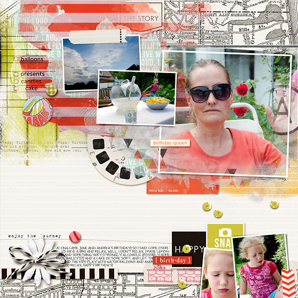 Digital Scrapbook page created by amberr featuring Melon Sorbet by Sahlin Studio