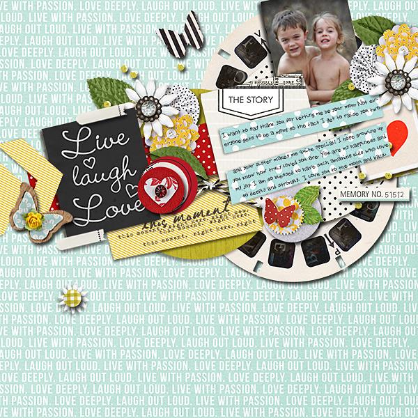 Digital Scrapbook page created by dotcomkari featuring Melon Sorbet by Sahlin Studio