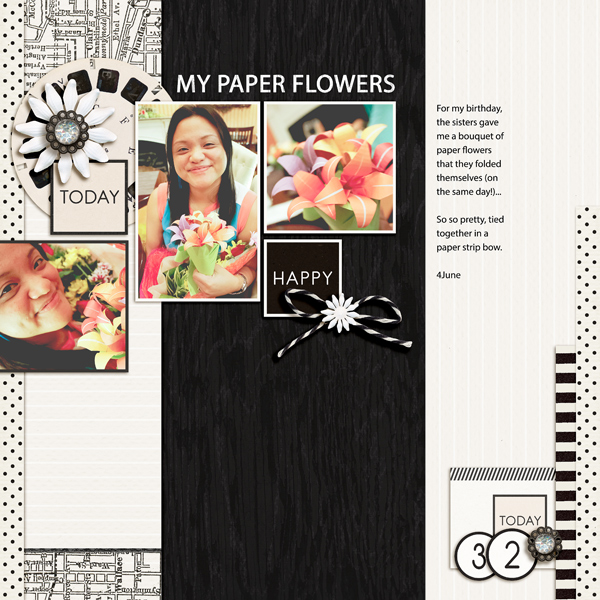 Digital Scrapbook page created by kaydee featuring Melon Sorbet by Sahlin Studio