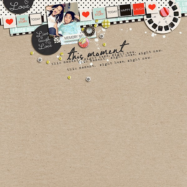 Digital Scrapbook page created by margelz featuring Melon Sorbet by Sahlin Studio