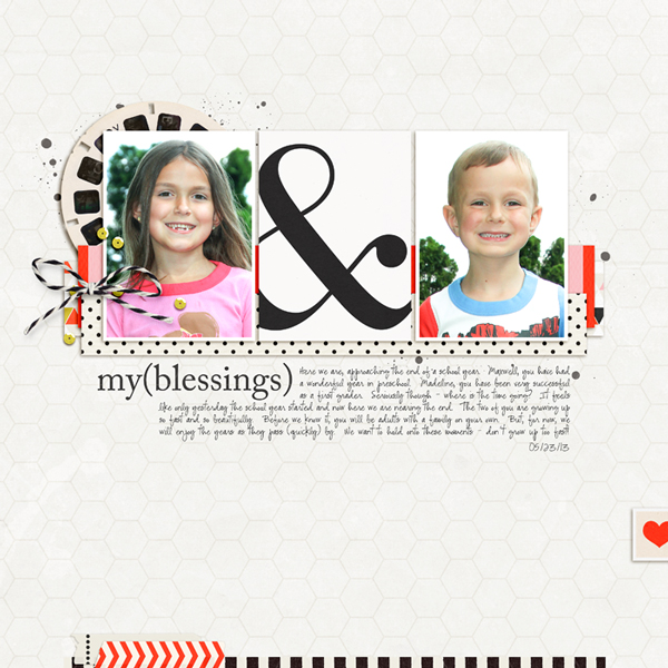 Digital Scrapbook page created by rlma featuring Melon Sorbet by Sahlin Studio