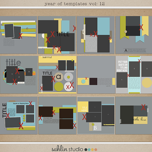 Year of Templates vol. 12 by Sahlin Studio