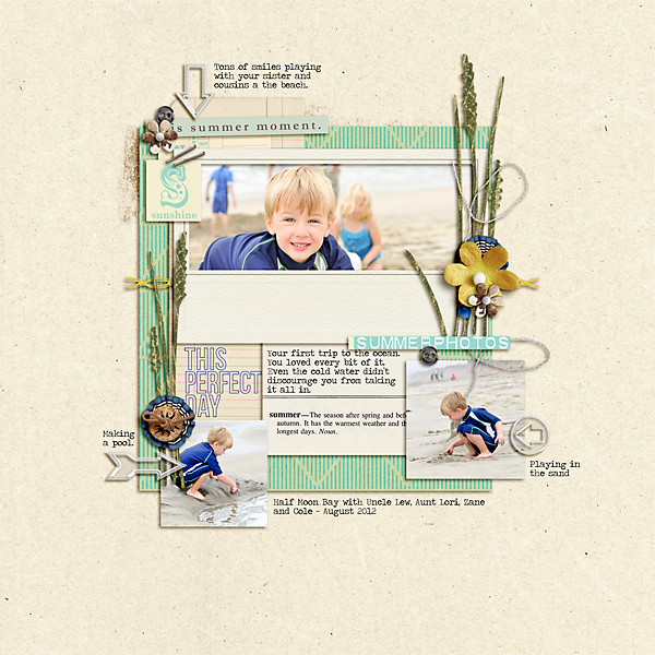 """Digital Scrapbook page created by pne123 featuring """"Acrylic: Arrows"""" by Sahlin Studio"""