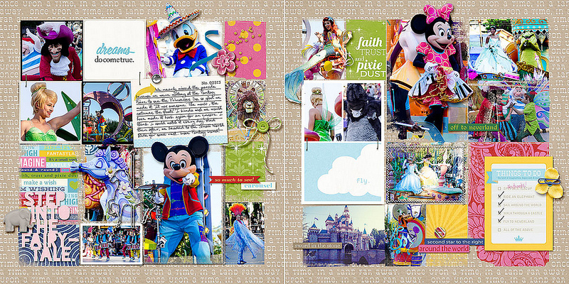 "Digital Scrapbook page created by amberr featuring ""Project Mouse (Fantasy)"" by Sahlin Studio"