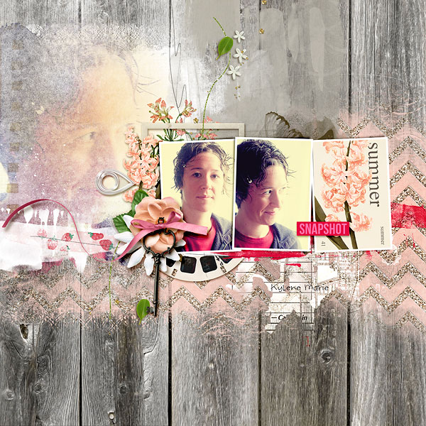 Beautiful digital scrapbook page created by amberr featuring Sahlin Studio goodies