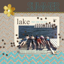 Summer / Lake digital scrapbook page created by ctmm4 featuring Sahlin Studio goodies
