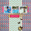summer swimming digital scrapbook page created by dul featuring Sahlin Studio goodies