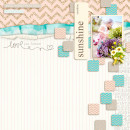 Summer digital scrapbook page created by icajovita featuring Sahlin Studio goodies