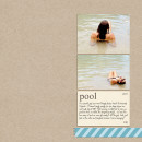 Summer Beach Swimming scrapbook page created by misskim featuring Sahlin Studio goodies