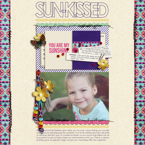 "Digital Scrapbook page created by crystalbella77 featuring ""Aztec Summer"" by Sahlin Studio"