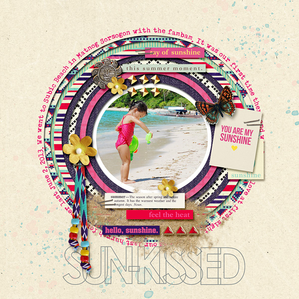 "Digital Scrapbook page created by dianeskie featuring ""Aztec Summer"" by Sahlin Studio"