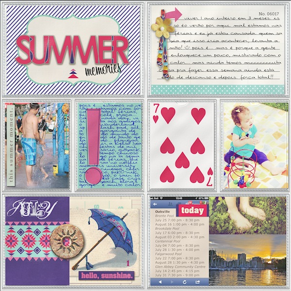 "Digital Scrapbook page created by giselifreitas featuring ""Aztec Summer"" by Sahlin Studio"