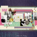 "Digital Scrapbook page created by mamatothree featuring ""Aztec Summer"" by Sahlin Studio"